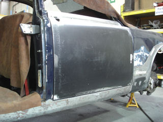 Daimler Restoration,  Car Welding,  Classic Car Restoration at Paul Baker Custom Metalwork, Hampshire UK