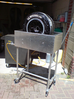 mobile wheel wash tank